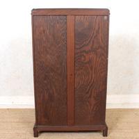 Oak Leaded Glass Bookcase (15 of 15)
