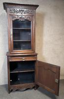 Antique French Carved Oak Bookcase (6 of 16)
