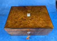 Victorian Jewellery Box in Burr Walnut (3 of 12)