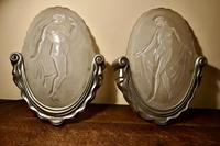 Pair of Art Deco Wall Light Shades by Muller Freres Luneville (2 of 10)