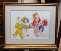 Watercolour The Puppets listed Irish artist Judith Caulfield Walsh (3 of 10)