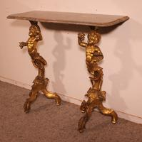 Venetian Console in Gilded Wood & Marble - 18th Century (10 of 14)