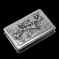 Rare Antique Georgian Solid Silver Mazeppa Snuff Box - Edward Smith 1836 (7 of 23)