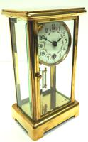 Fine Antique French Table Regulator with Visible Pendulum 8 Day 4 Glass Mantel Clock (2 of 10)