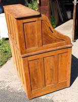 1920s Single Pedestal Oak Stype Rolltop Desk (4 of 6)