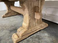 Rustic Bleached Oak Farmhouse Refectory  Table (21 of 21)