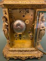 Rare French Mid 19th Century 'Caryatid' Cased Carriage Clock – Lucien Paris (6 of 6)