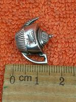 Antique Sterling Silver Hallmarked 1888 Miniature Teapot William John Pellow, Chester (4 of 8)