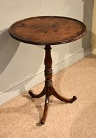 Quality George III Mahogany Dish Top Tripod Table (4 of 4)