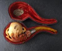 Antique Meerschaum pipe, Eagle claw, Amber (8 of 14)