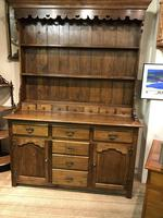 Oak open rack dresser with cupboard and draw base (7 of 14)