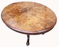 Victorian Burr Walnut Loo Table (5 of 6)