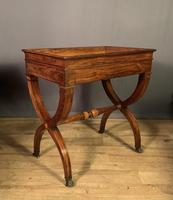 Stunning French Charles X Walnut Library Writing Table (7 of 16)