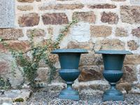 Large Pair of 1950s French Cast Iron Urns (4 of 4)