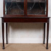 Edwardian Glazed Bookcase Cabinet on Stand Astragal Mahogany (4 of 11)