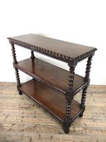 Antique Victorian Carved Oak Three Tier Display Shelves (10 of 10)