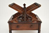 Antique Regency Rosewood Canterbury Magazine Stand (9 of 12)