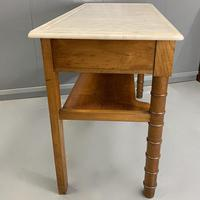 French Marble Top Faux Bamboo Dressing Table (8 of 8)