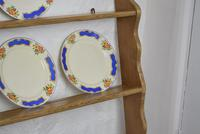 Antique Pine Plate Rack Early 20th Century (10 of 10)