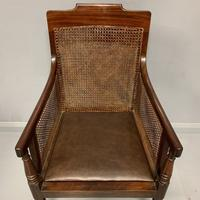 Regency Library Armchair With Leather Cushions (6 of 8)