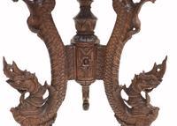 Burmese Side Table Antique Carved Burma Furniture (8 of 11)