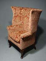A Fine and Well Shaped Late 19th Century Mahogany Framed Wing Chair (3 of 4)