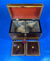 Regency Rosewood Twin Section Tea Caddy (11 of 12)