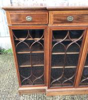 Wonderful Edwardian Inlaid Mahogany Four Door Breakfront Bookcase by Maple & co (10 of 14)