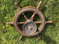 Oak & Brass Ships Wheel (11 of 11)
