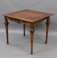 An American, Carved Walnut Card Table (5 of 6)