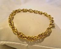 Vintage Bracelet 1970s 12ct Gold Filled Fancy Link with Stamped Bolt Ring (2 of 10)