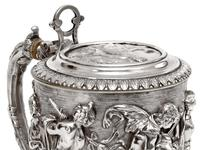 Ornate Victorian Electro Formed Silver Plated Lidded Tankard with Figural Scenes of Musicians (13 of 13)
