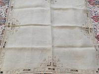 2 Small Pieces of Antique European Linen, Italian Figural Reticella + 2nd in Madeira work. (7 of 7)