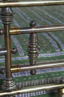 Handsome Victorian All Naturally Aged Brass King Size Bed (10 of 10)