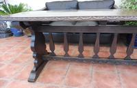 Country Oak Tefectory Table 7 foot long 1880 (10 of 10)