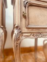 French Antique Bedside Tables / Marble Bedside Cabinets / Louis XV Nightstands (6 of 10)