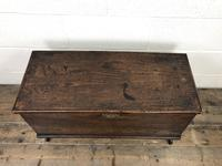 Small 18th Century Antique Elm Six Plank Coffer Chest (2 of 11)