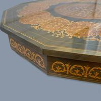 Italian Dodecagon Marquetry Musical Side Table (3 of 8)