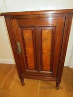 Edwardian Red Walnut Bedside Cabinet (3 of 8)