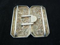 Chinese 19th Century Solid Silver Buckle #1 - Birds & Prunus (2 of 4)
