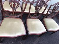 Antique Set of 8 Mahogany Dining Chairs (8 of 10)
