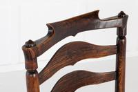 18th Century English Elm Ladder-Back Carver Chair (6 of 11)