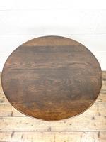 Antique Oak Tripod Table (6 of 6)