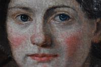 """Swiss School Portrait c1800 Inscribed """"Johann Biedermann 1763-1830"""" (3 of 9)"""