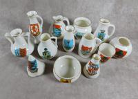 Collection of W.H Goss Crested Ware, Heraldic, Souvenir China (8 of 8)