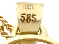 10.46ct Aquamarine & 14ct Yellow Gold Pendant - Vintage c.1940 (5 of 10)