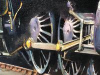 Oil Painting Railway Train Engine Princess Margaret 4056 Signed Ken Allsebrook (20 of 30)