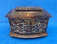Victorian Tortoiseshell Tea Caddy with Mother of Pearl Inlay (3 of 20)