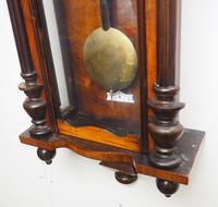 Great Antique German Twin Walnut 8-Day Mantel Clock Vienna Striking Wall Clock (5 of 11)