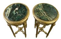 Pair of French Giltwood Carved Marble Top Stands (2 of 6)